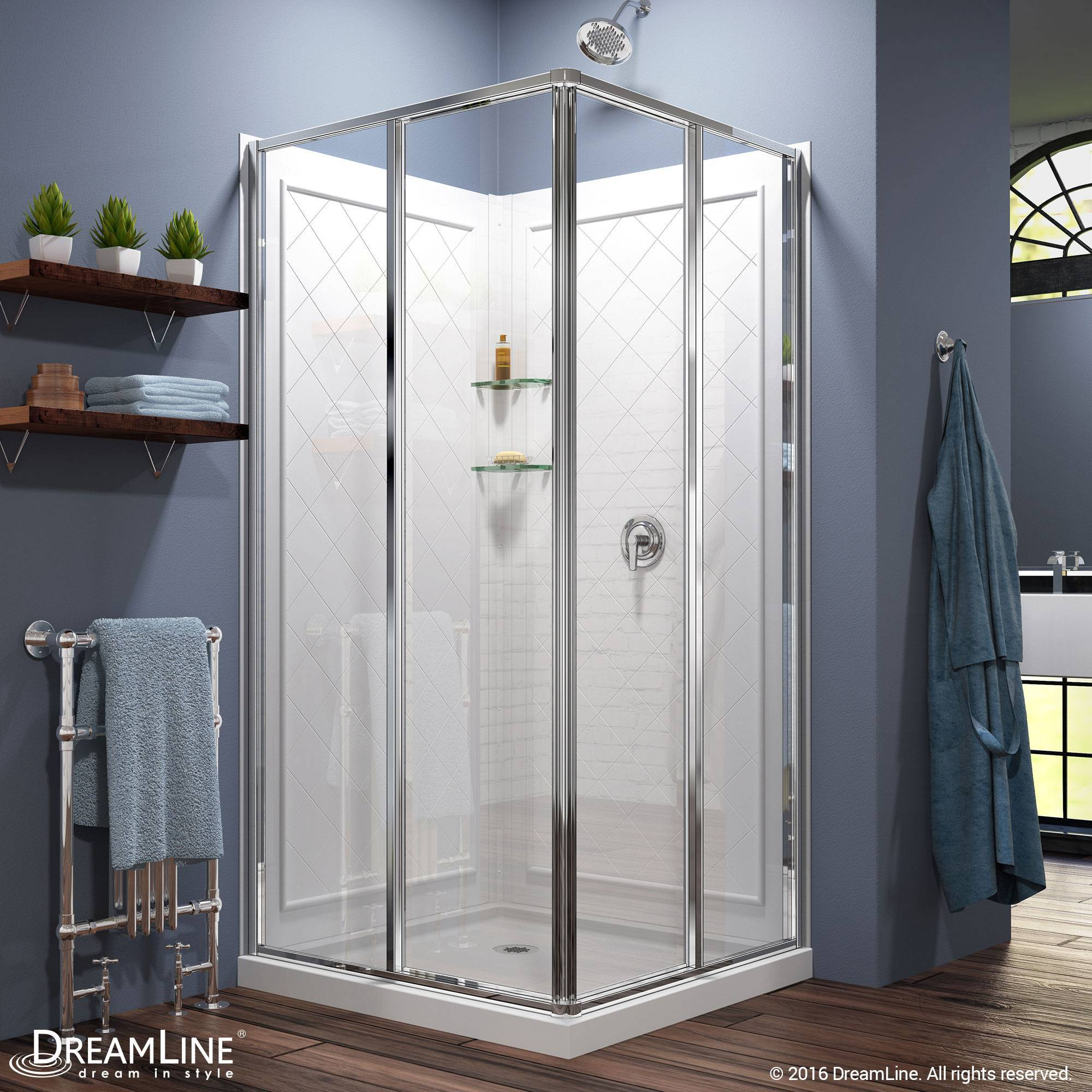 DreamLine DreamLine Cornerview Framed Sliding Shower Enclosure