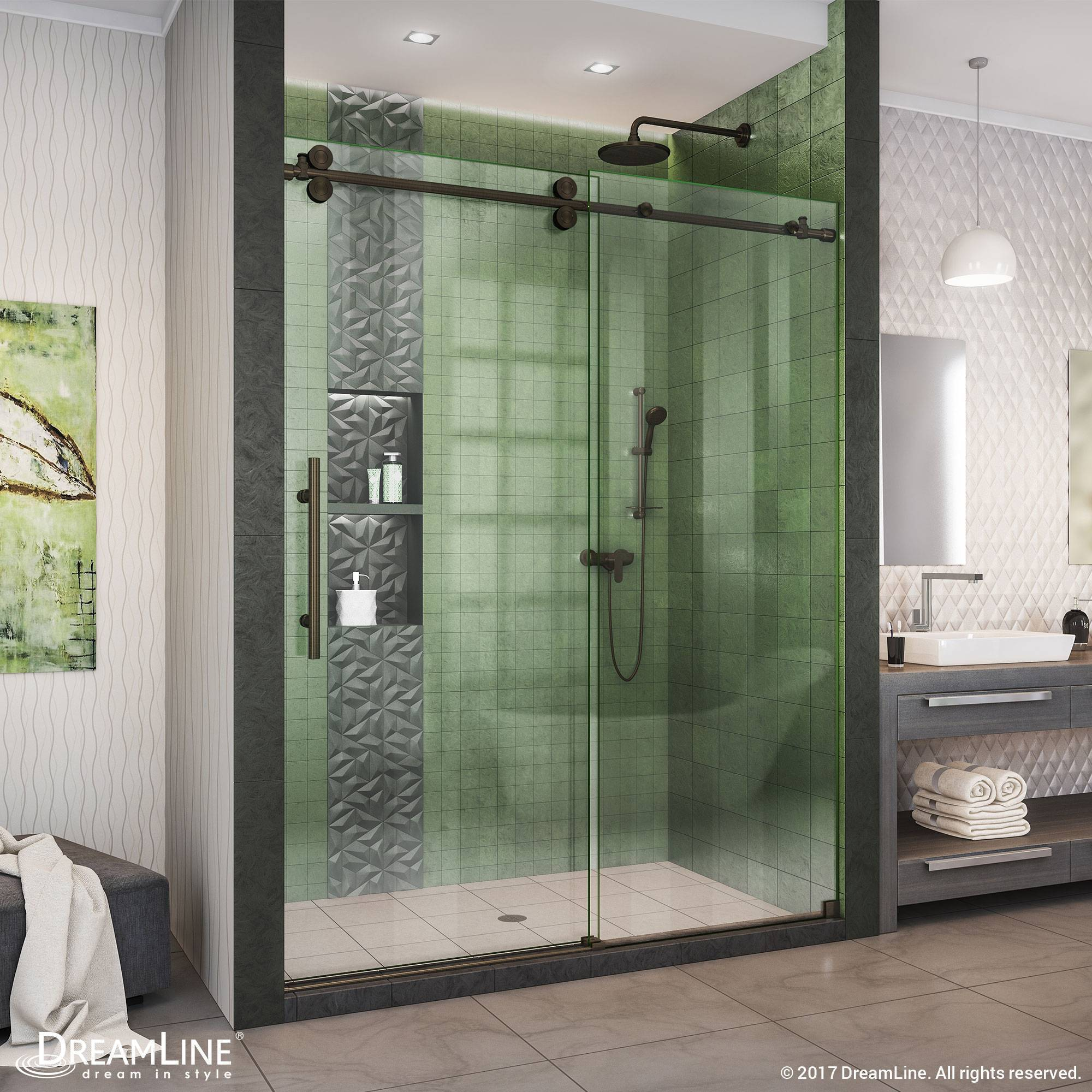 DreamLine Enigma-XO Fully Frameless Sliding Shower Door