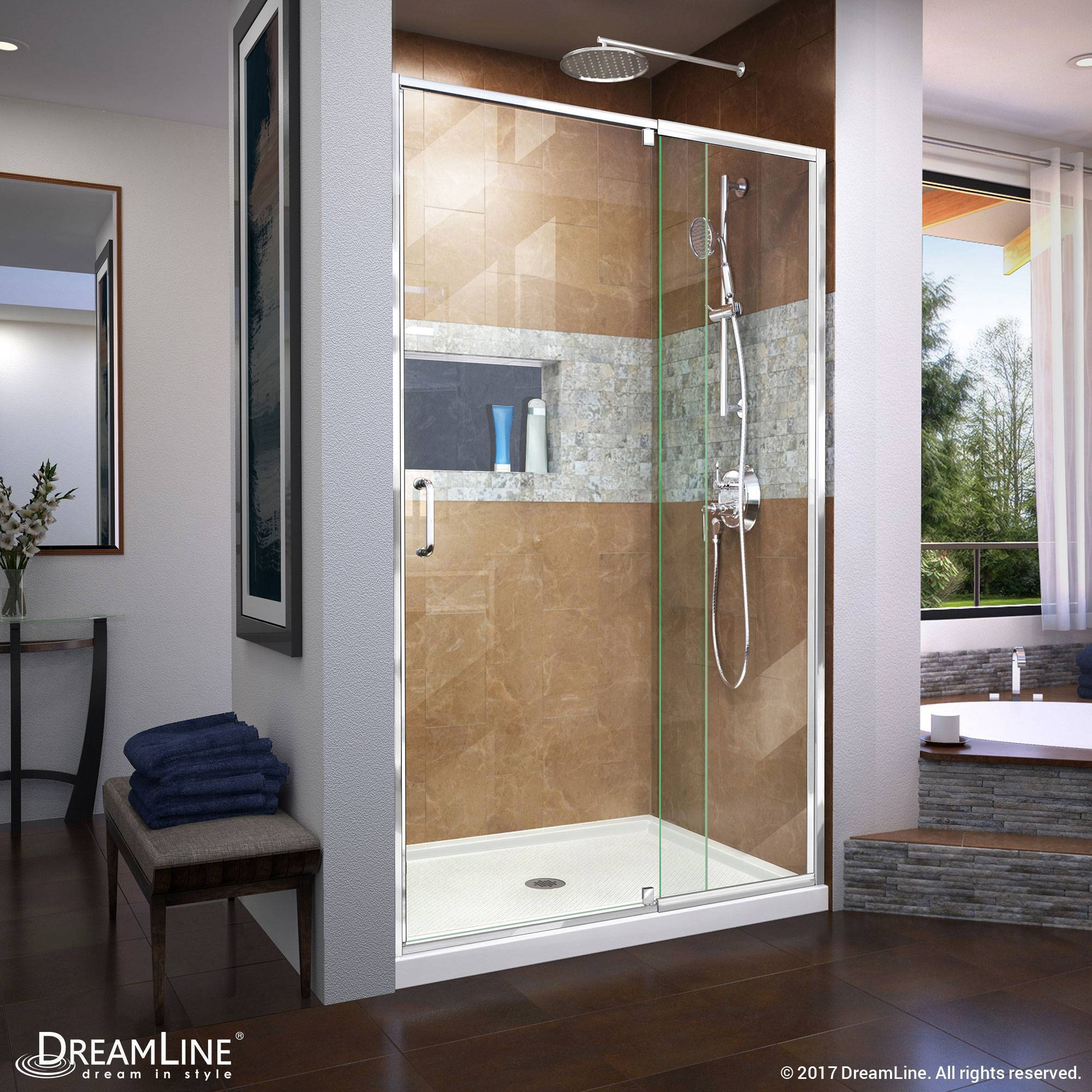 DreamLine Flex Semi-Frameless Pivot Shower Door