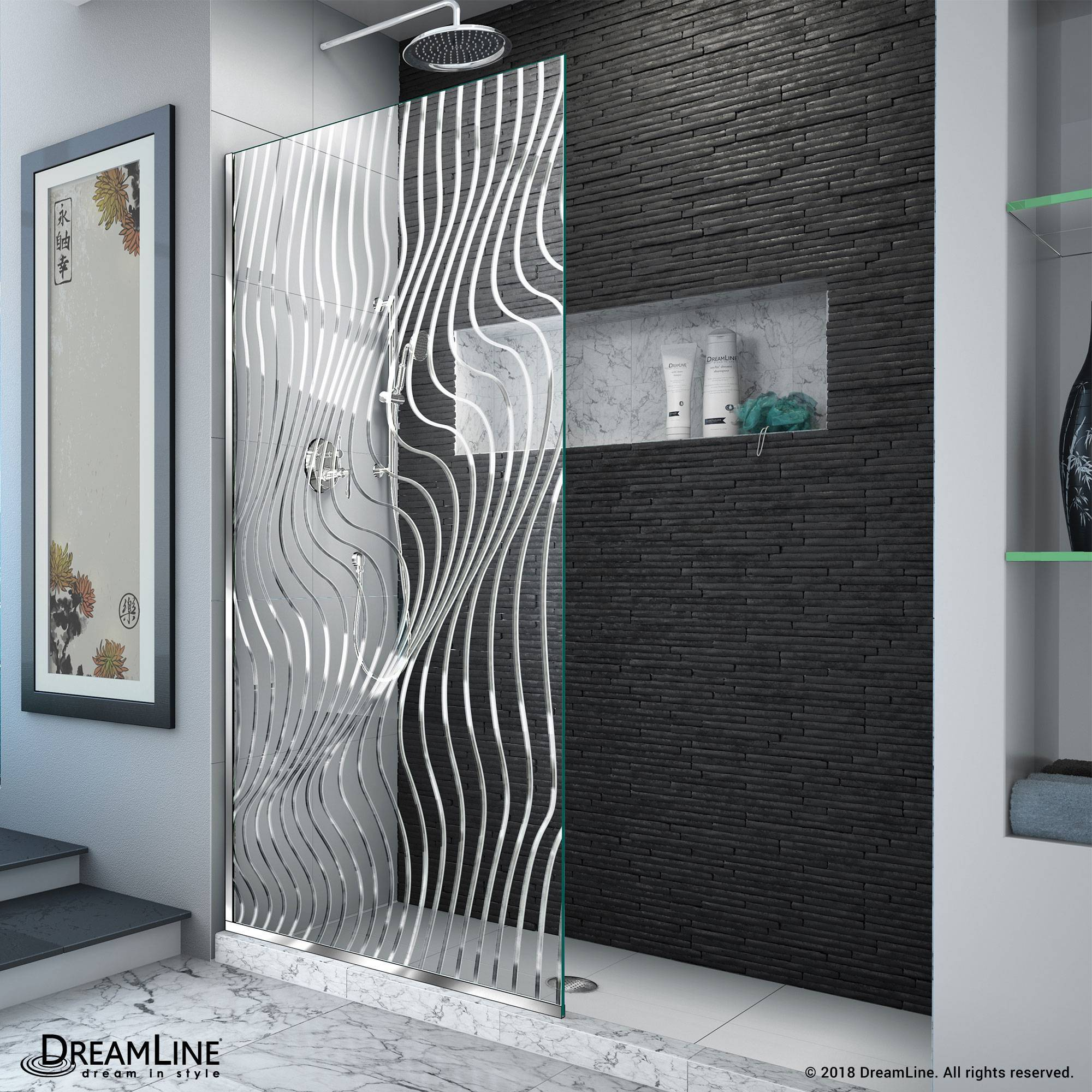 Platinum Linea Screen Shower Door